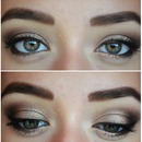 Gold&Brown smokey eyes