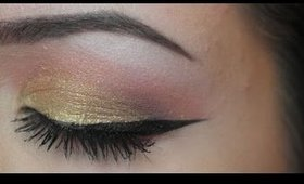 GOLD AND BERRY EYESHADOW TUTORIAL