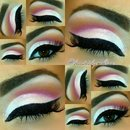 Hot Pink Cut Crease Look.