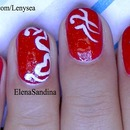 Valentine's Day Hearts Nail Design