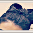 How to: Upside Down Braided, Double Hair Bow Bun Tutorial! :)