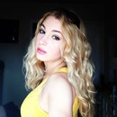 summery curls and yellow