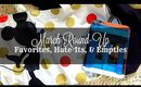 March Round-Up | Favorites, Empties, Fails & Haul!