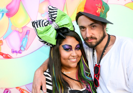 YouTube guru queenofblending poses with makeup artist Will Lemon