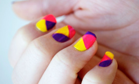 Neon Colorblock Nail Tutorial