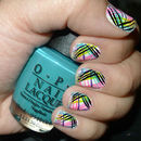 Multi colored striped