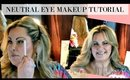 Neutral Eye Makeup Tutorial using Makeup Revolution Flawless Palette