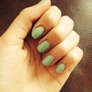 Sea foam green nails ☺️