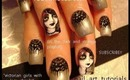 GOTHIC GIRLS W/ VINTAGE REVERSE FRENCH MANICURE LACE SHAWLS: robin moses nail art design tutorial
