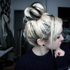 Two Toned Messy Top Bun