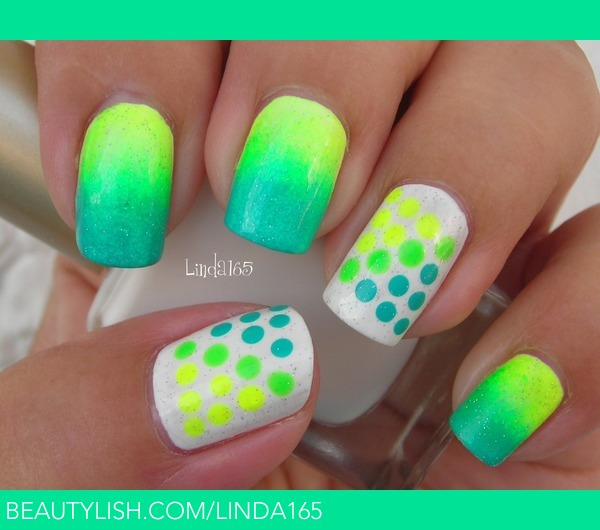 Cute Nail Designs With Neon Colors: Pretty neon nail art designs for ...