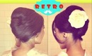 ★RETRO Bouffant UPDO |PROM WEDDING HAIRSTYLES TUTORIAL |HOW TO FRENCH TWIST Bouffant FOR MEDIUM, LONG HAIR