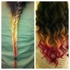 the fishtail braid double dip dye.easy to do in 6 simple steps wanna find out more comment and like :-) x