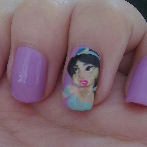 Princess Jasmine Nails: Alexis C.'s (glittertips) Photo