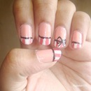 Pinstripe Bow Nails!!!