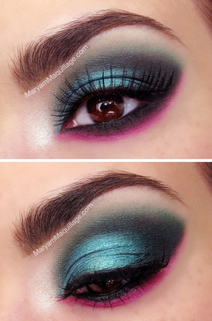 details: http://www.maryammaquillage.com/2013/02/pink-n-green-for-spring.html