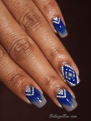 I've created my own tribe!  http://www.bellezzabee.com/2012/10/nail-challenge-day-16-tribal-print.html