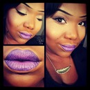 purple ombre lips