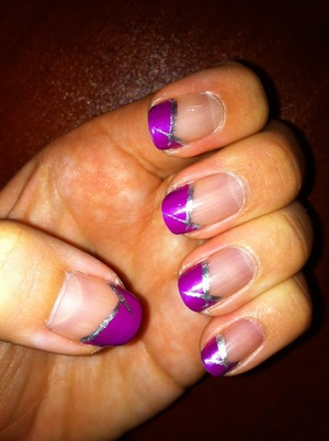 Purple & Silver Manicure