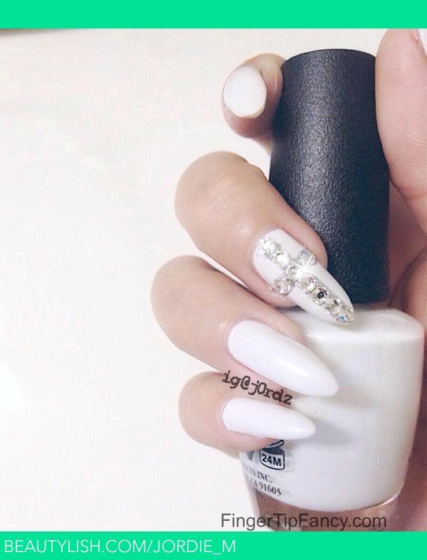 off white nails with swarovski cross nails jordie ms