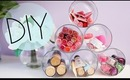 DIY Candle Jar Organizer & Ideas to Recycle Candle Jars {Makeup organizer}