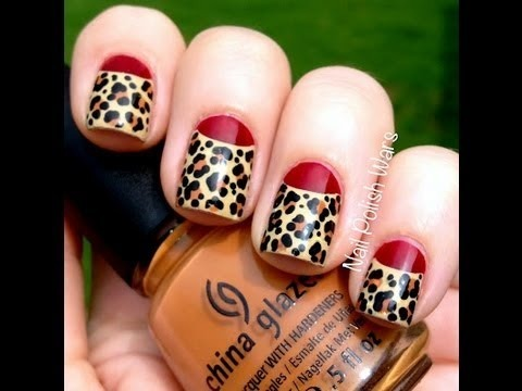 Leopard Nails Art Designs Leopard Nail Designs For Beginners Cute