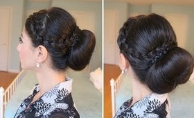 Criss-Cross Braided Bun