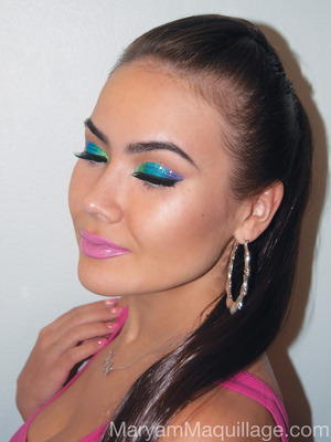 For more info and how-to, visit my blog:  http://www.maryammaquillage.com/2012/05/mary-from-block.html
