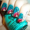 The Nail Junkkie - Bohemian Floral Design