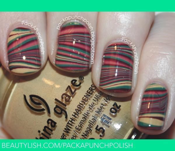 Fall Water Marble Nails Samantha S S Packapunchpolish