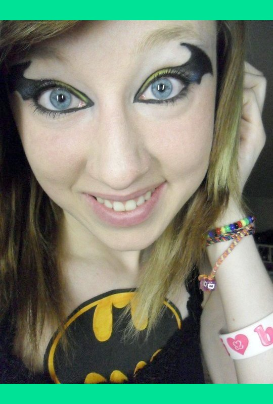 Batman eye makeup 2