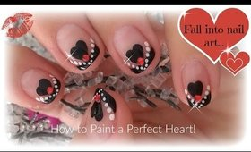 Easy Valentine's Day Nails | How to Paint a Perfect Heart ♥
