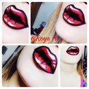 Cartoon pop art lips
