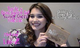 Tarte Grav3yardGirl Swamp Queen Palette Makeup Tutorial: Glitter Taupe Eyes!