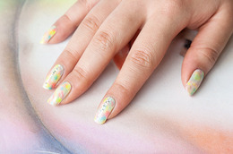 Tie-Dye and Glitter Nail Tutorial from Star Blogger Chelsea King!