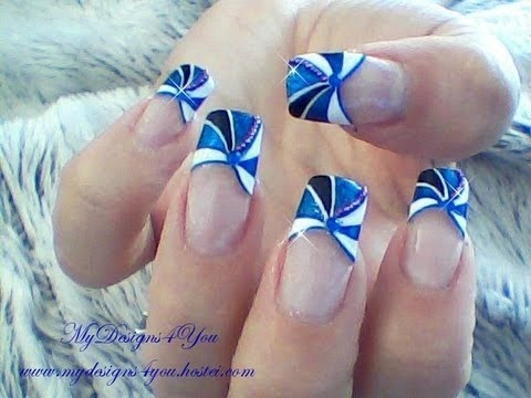 Re edited blue french tip nail art design tutorial re edited blue french tip nail art design tutorial mydesigns4you prinsesfo Gallery