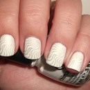White and Silver Subtle Stamping