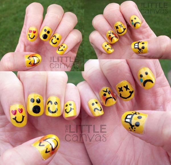 Emoticon Nail Art The Little Canvas As Thelittlecanvas Photo