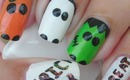 Halloween Nail Art - Trick or Treat - Decoracion de Uñas