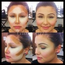 contouring and highlight.