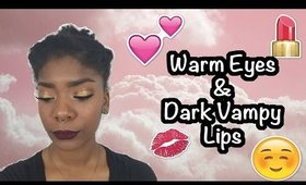 Warm Gold Eyes and Dark Vampy Lips