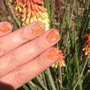 Pretty Orange Nails and Pretty Orange Flowers