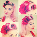 Vintage victory roll pin up look