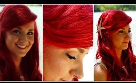 The Little Mermaid Hair Tutorial - Ariel Mermaid Hairstyle With Big Swoop Bang