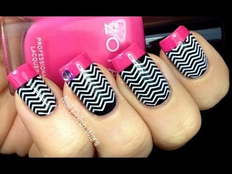 Chevron Nails Tutorial Konad