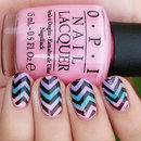 Gradient Nails with Chevrons