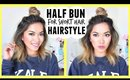 Half Bun for Short Hair Hairstyle! Style Spotting - ThatsHeart