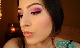 Colorful Valentine's Day Makeup