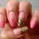 Pink Hearts and Gold!