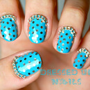 Glitter polka dots and chains nail art!